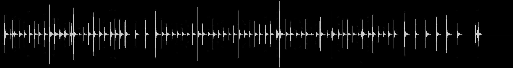 木琴5歌舞伎黒御簾下座音楽和風日本マリンの未再生の波形