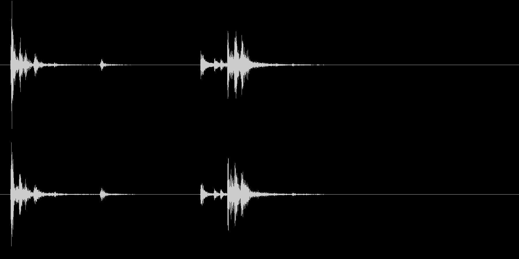 【生録音】お箸の音 46 コップに差すの未再生の波形