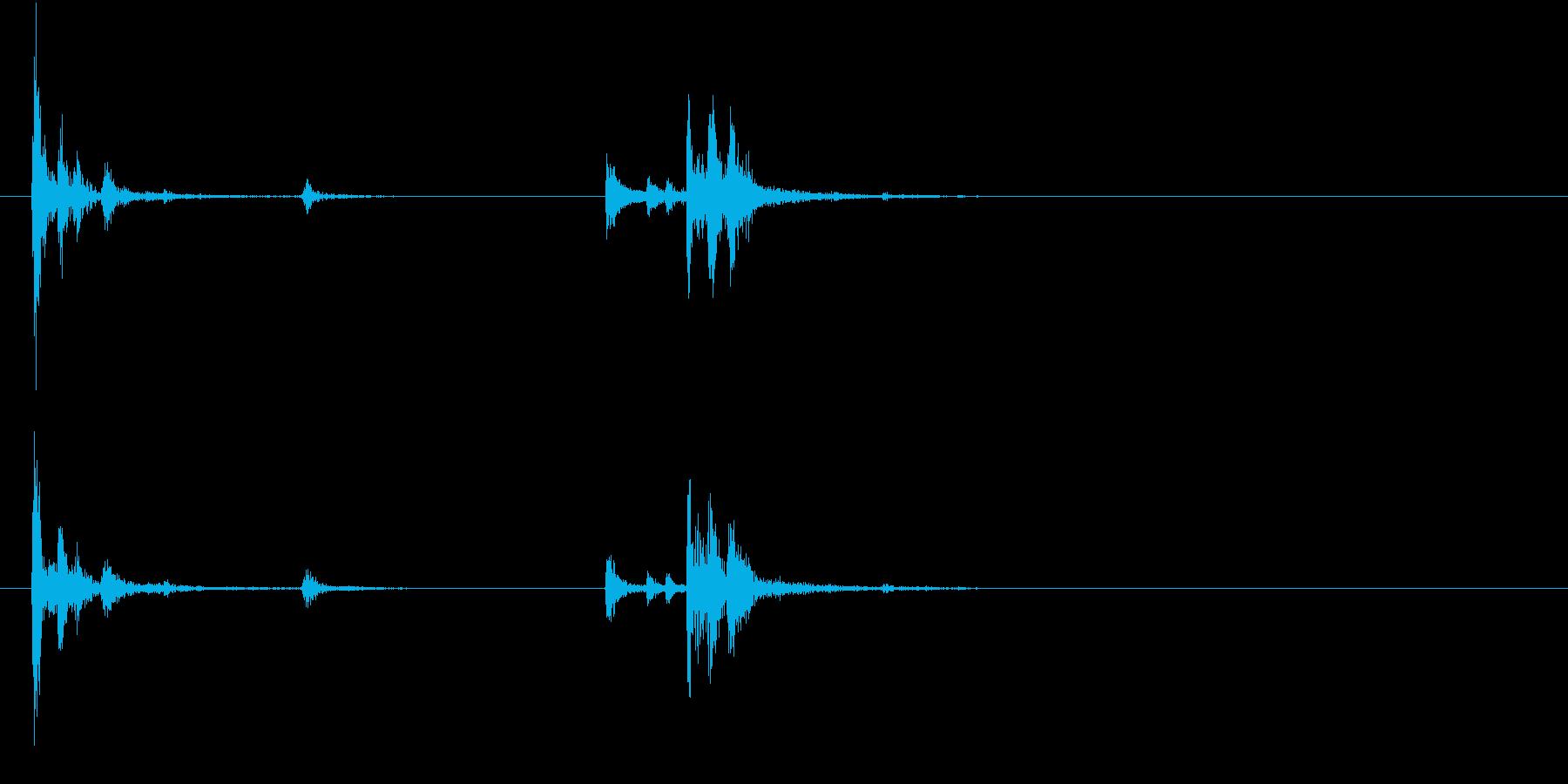 【生録音】お箸の音 46 コップに差すの再生済みの波形