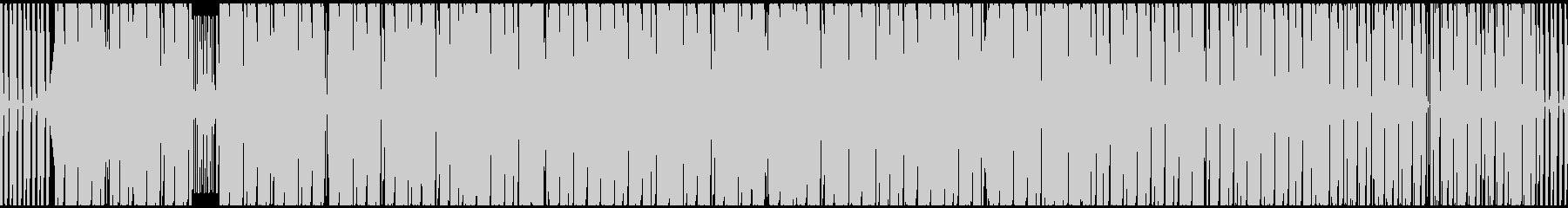 かっこいいベースロックポップの未再生の波形