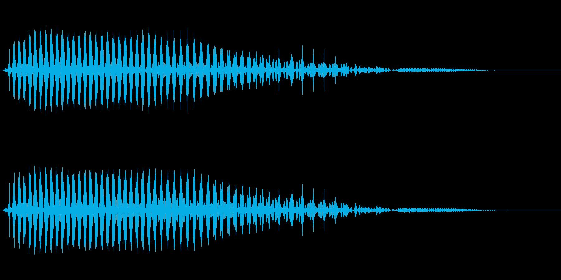 ベーシックな屁の再生済みの波形