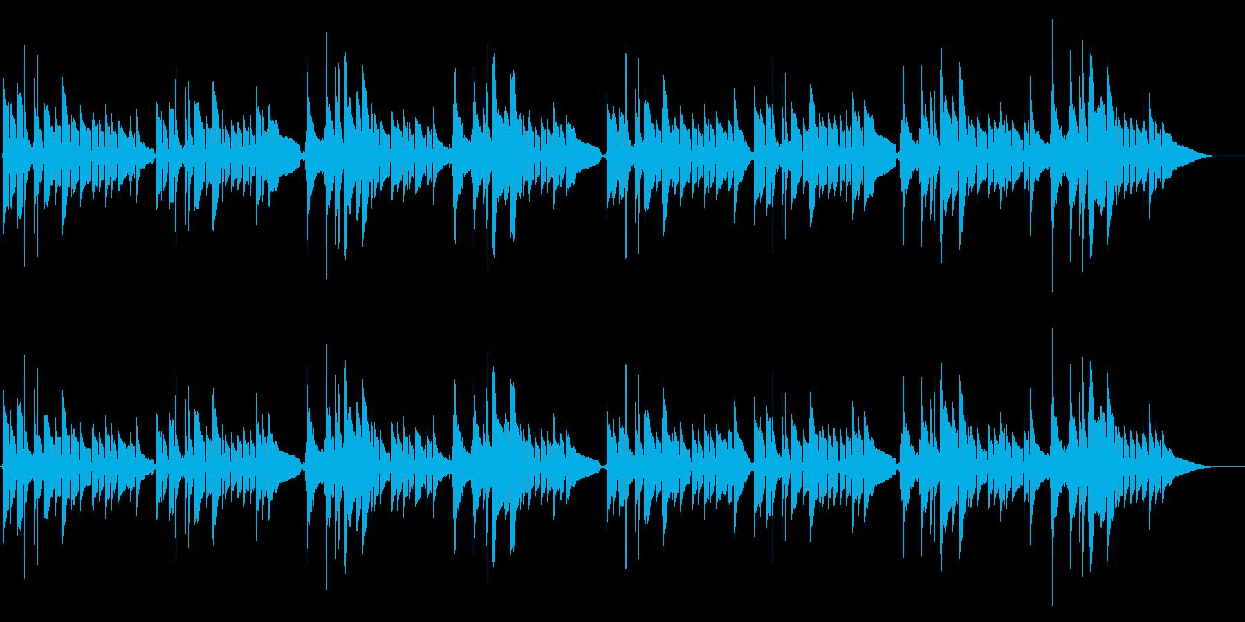 アコギ独奏 英国民謡グリーンスリーブスの再生済みの波形