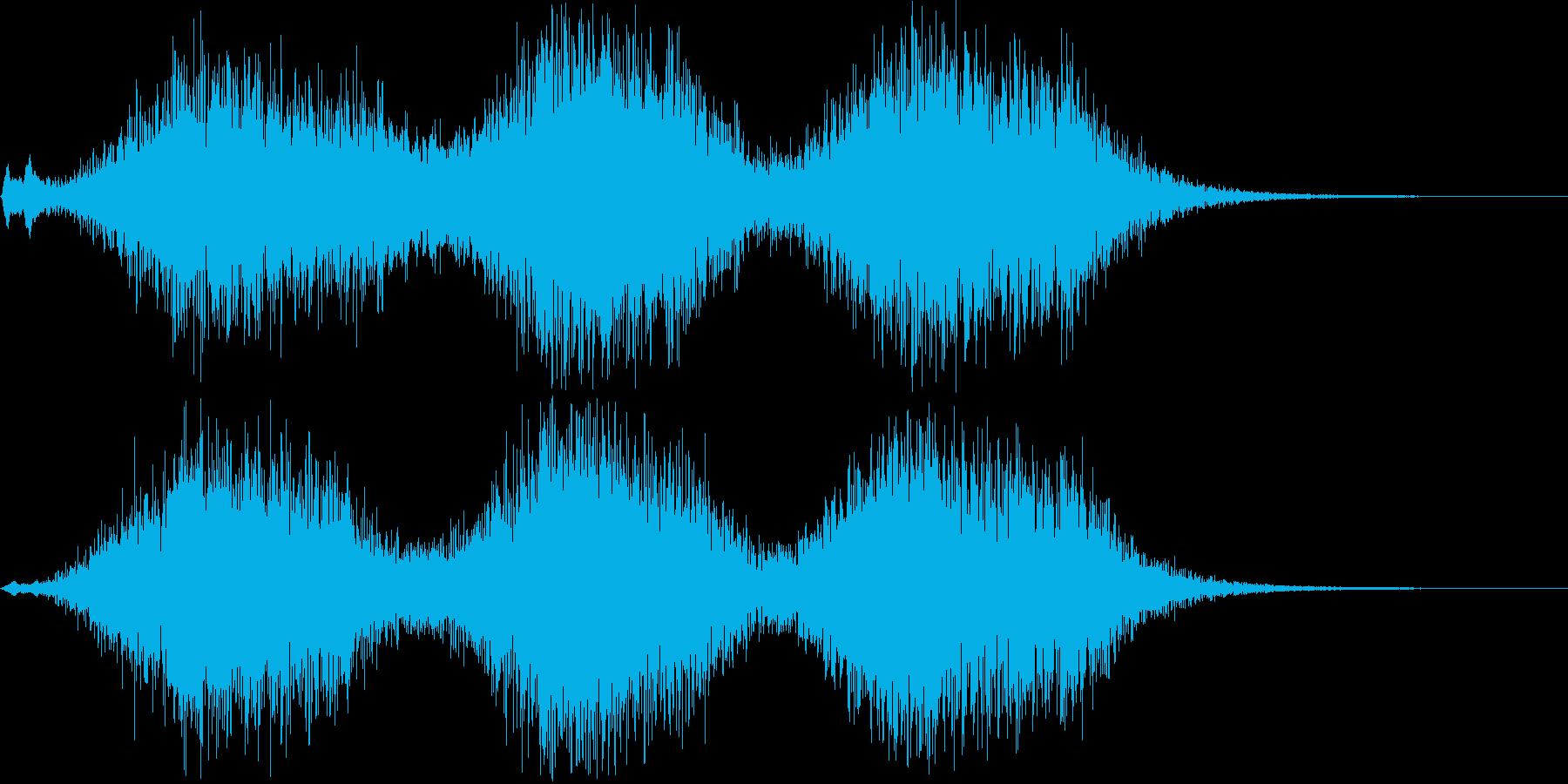 効果音  車の渋滞  クラクションの再生済みの波形