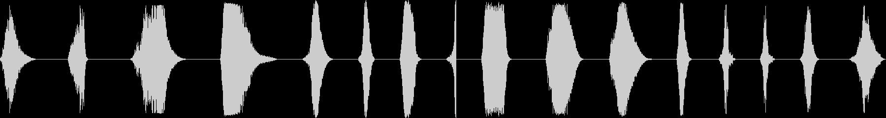 ノイズスイープ、16バージョン。 ...の未再生の波形