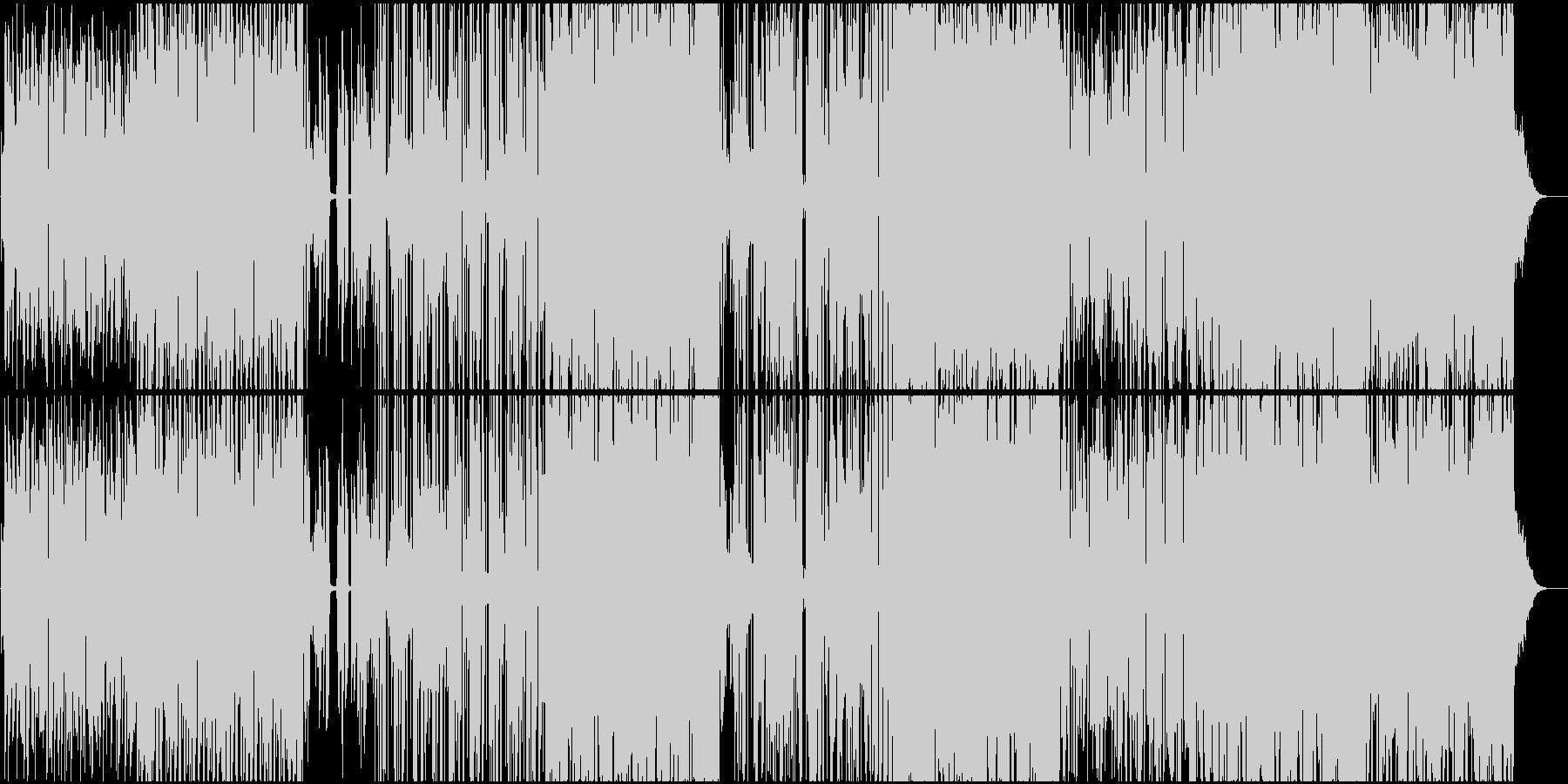 お洒落で都会的なエレクトロファンクの未再生の波形