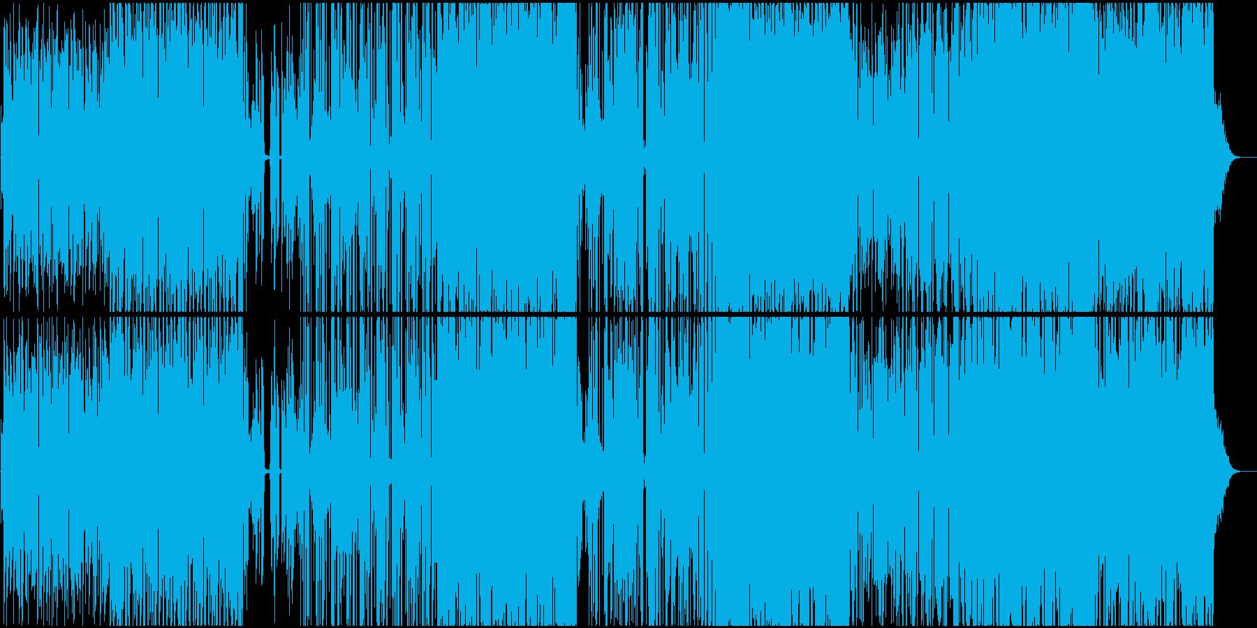 お洒落で都会的なエレクトロファンクの再生済みの波形
