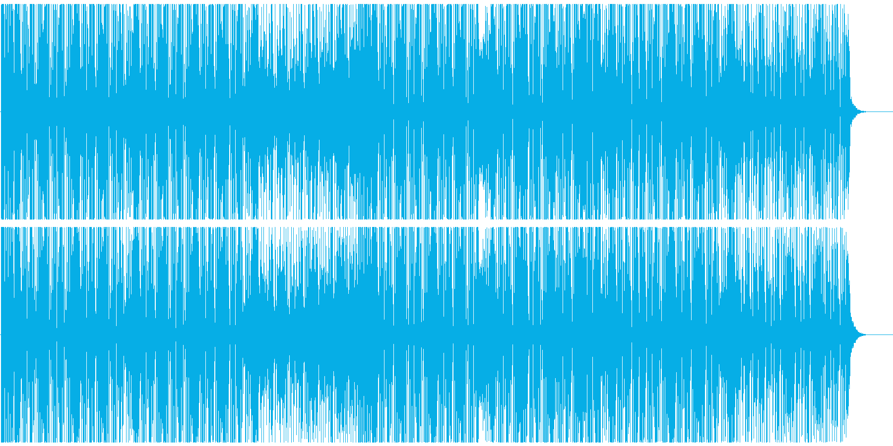 カットアップした音が近未来的なテクノの再生済みの波形