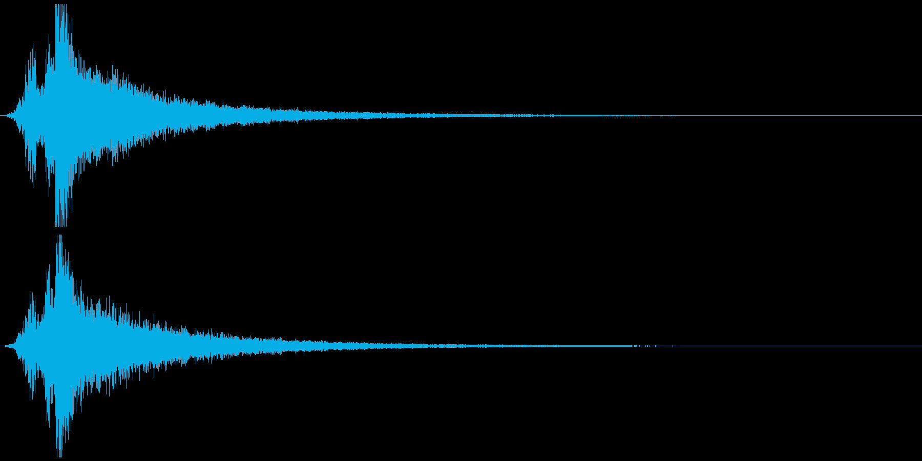 ガキーンという刀のインパクト音の再生済みの波形