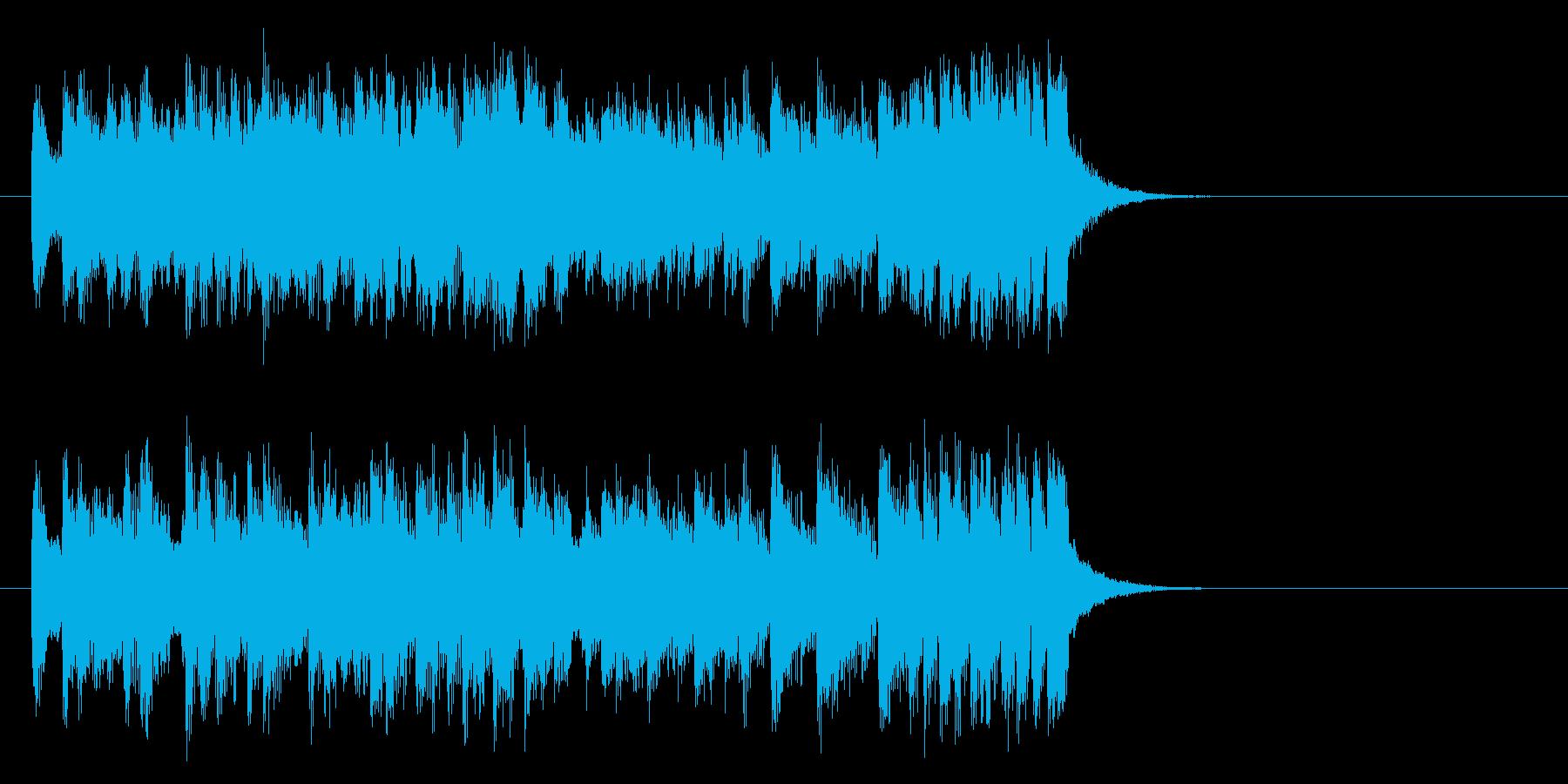 元気なテーマ・ポップス(イントロ)の再生済みの波形