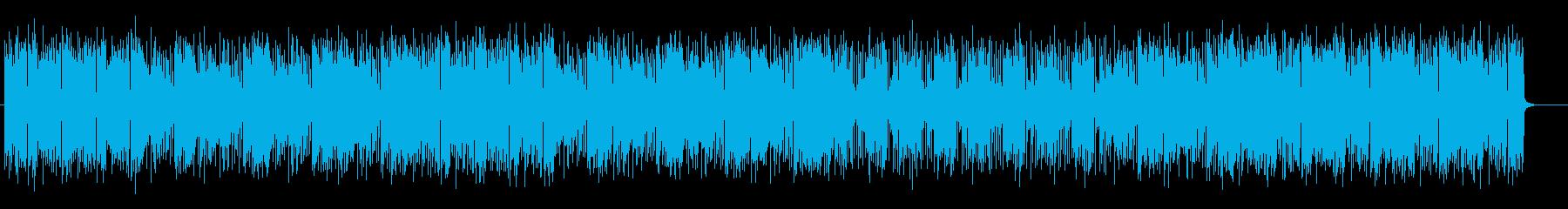 軽快なリズムで明るいポップスの再生済みの波形
