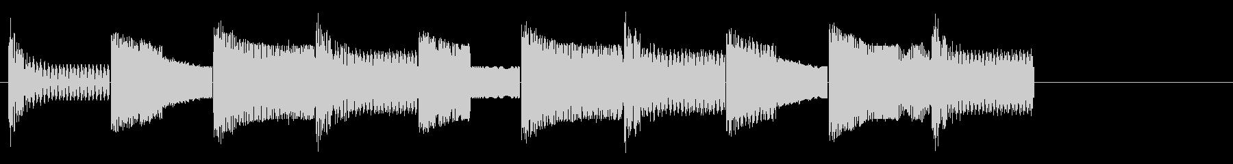 本格的ファミコンのハロウィンジングルの未再生の波形