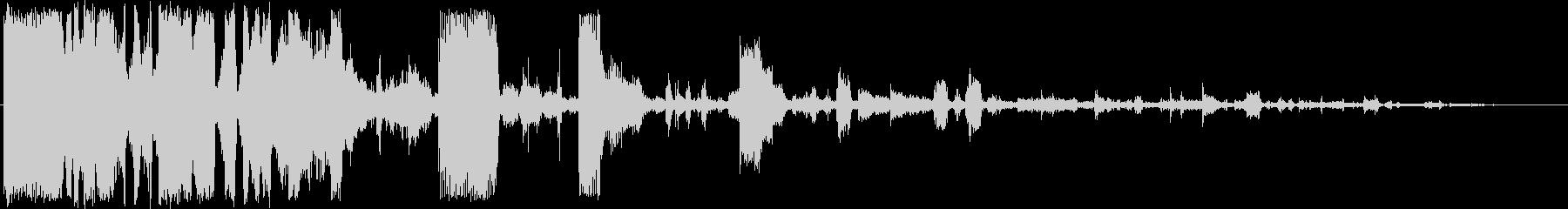 メカニックサウンドロゴの未再生の波形