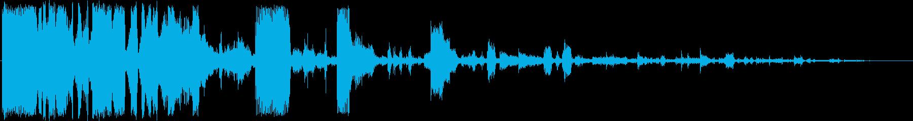 メカニックサウンドロゴの再生済みの波形