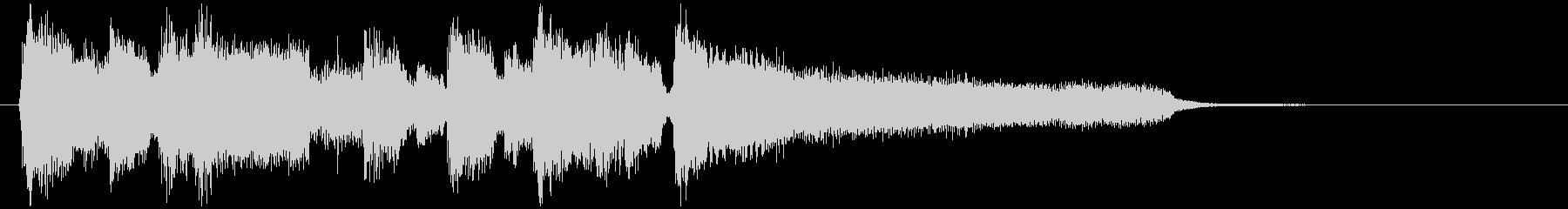 滑らかミディアムスイングのジャズジングルの未再生の波形