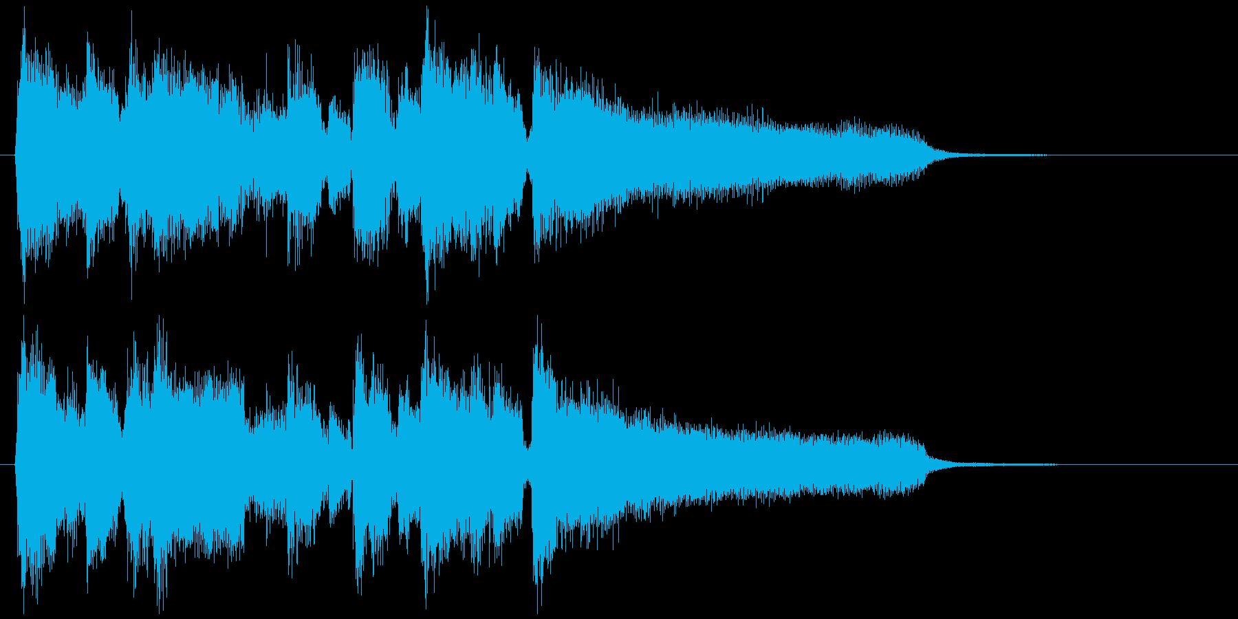 滑らかミディアムスイングのジャズジングルの再生済みの波形