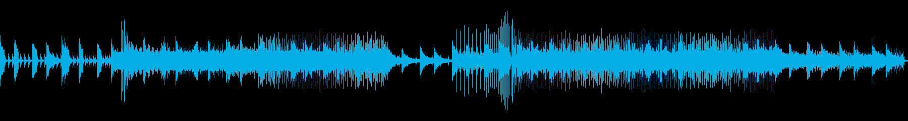 シリアスなピアノとシンセサウンドの再生済みの波形