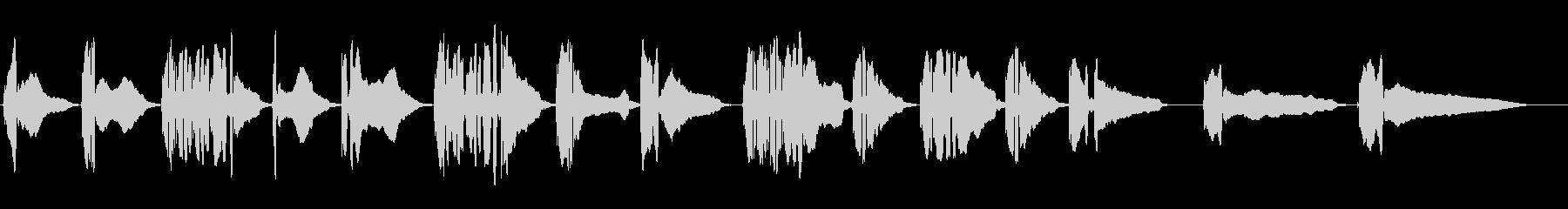 トランペット独奏(スロー)の未再生の波形