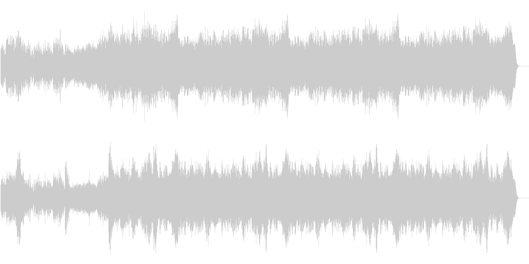 ナレーション引き立てる使い易いBGMの未再生の波形