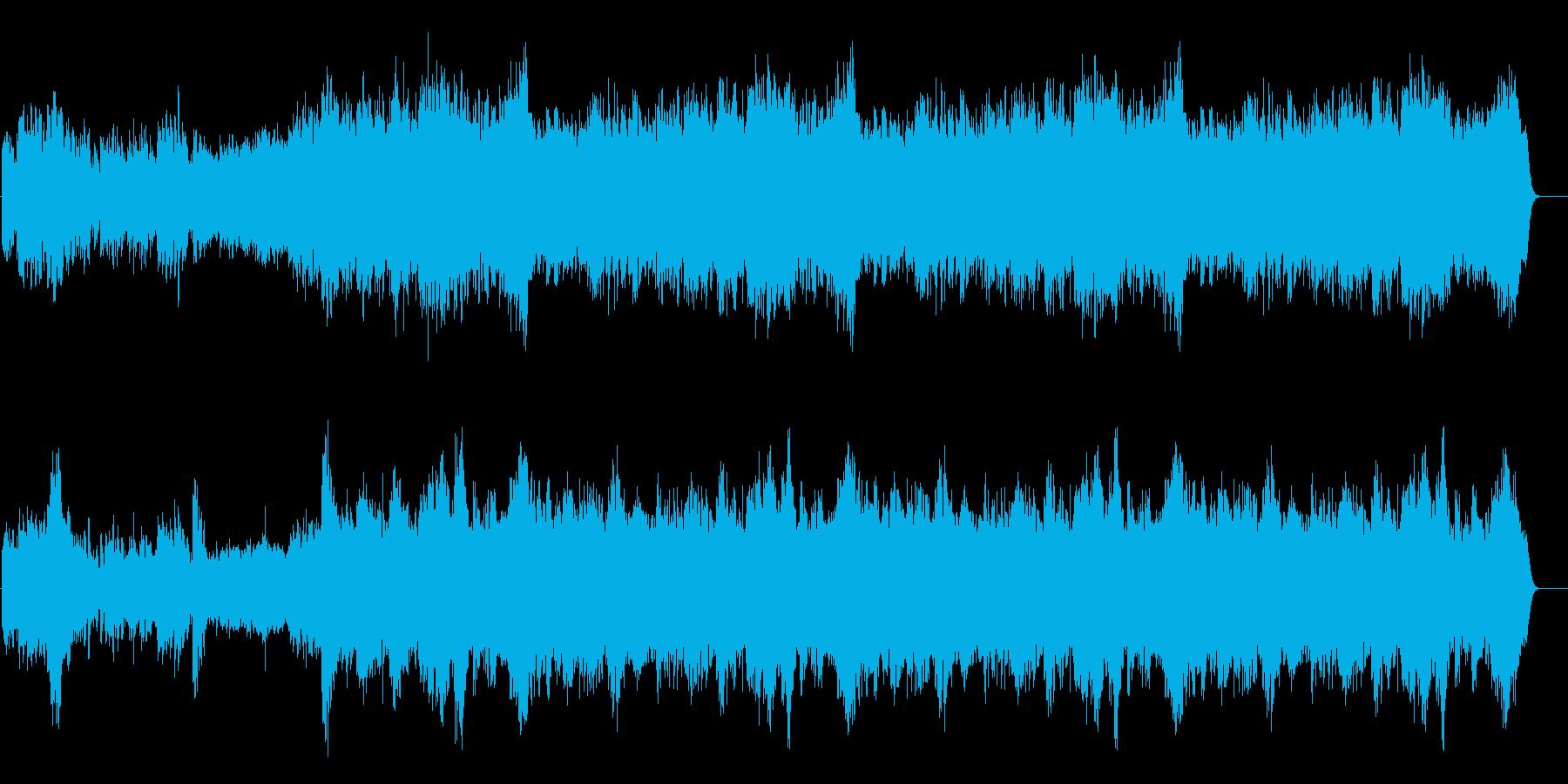 ナレーション引き立てる使い易いBGMの再生済みの波形