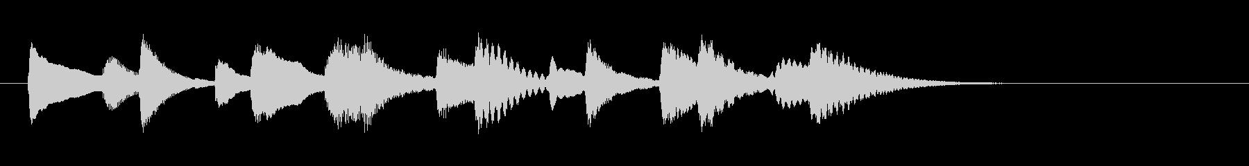 和やか落ち着き木琴マリンバ三重奏ジングルの未再生の波形