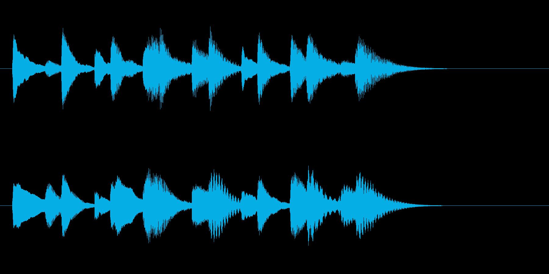 和やか落ち着き木琴マリンバ三重奏ジングルの再生済みの波形