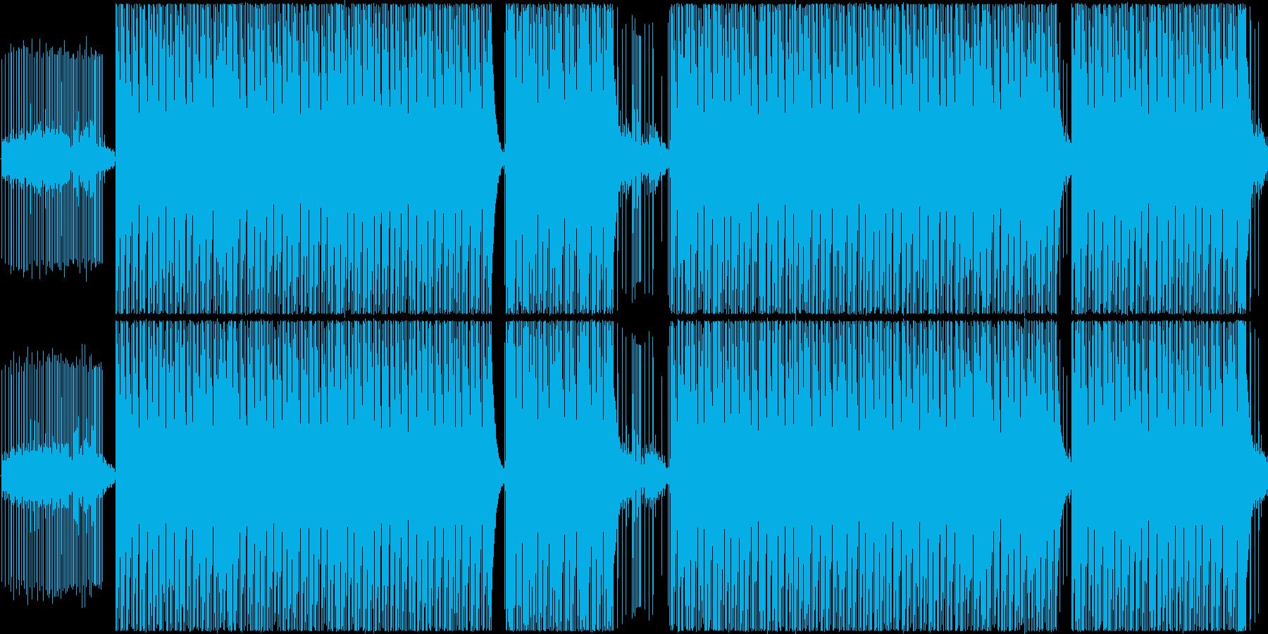 エコー付きの合成パーカッション。ア...の再生済みの波形