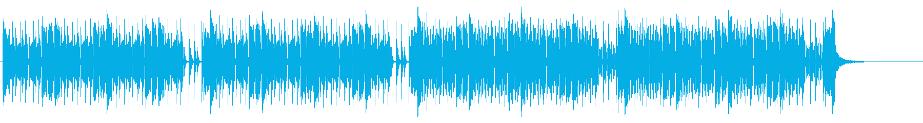緊張感のあるEDM調バトル曲の再生済みの波形