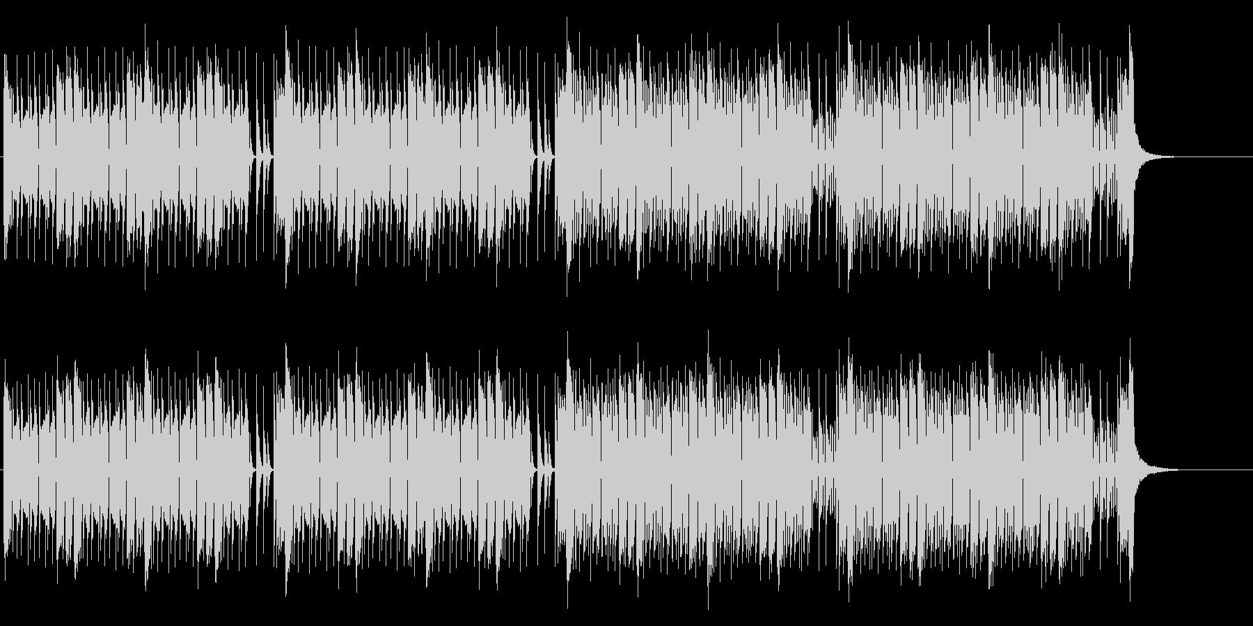 緊張感のあるEDM調バトル曲の未再生の波形