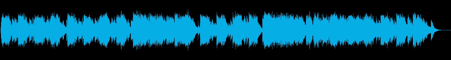 水の中のようなピアノの再生済みの波形