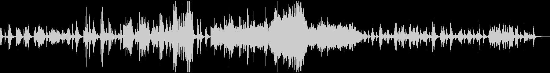 ドビュッシー「月の光」ピアノ独奏曲の未再生の波形