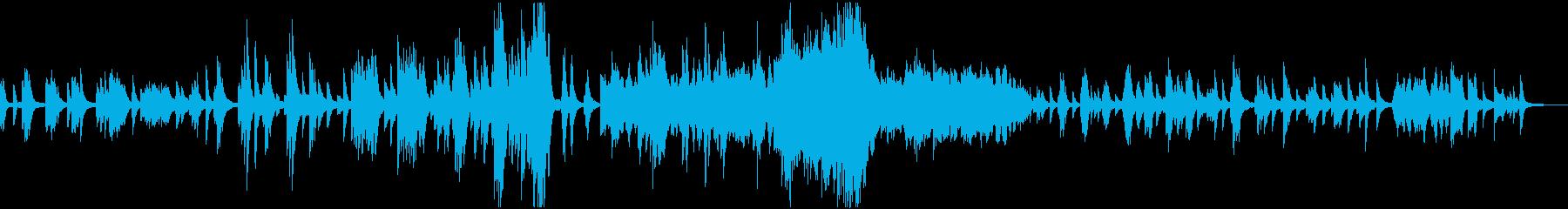 ドビュッシー「月の光」ピアノ独奏曲の再生済みの波形