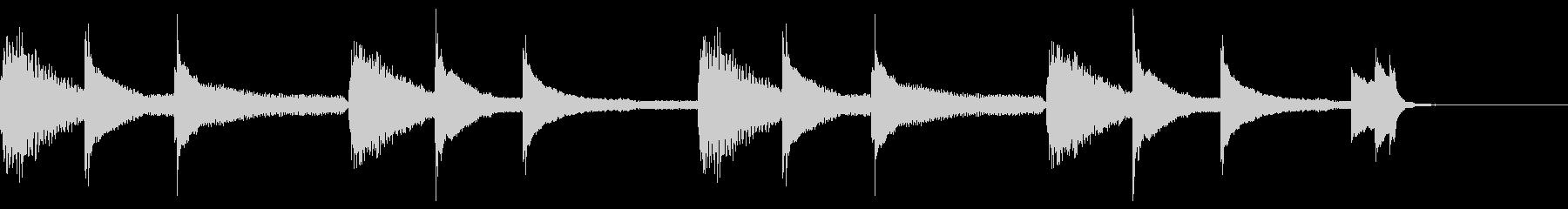 Lo-Fiなピアノ素材の未再生の波形