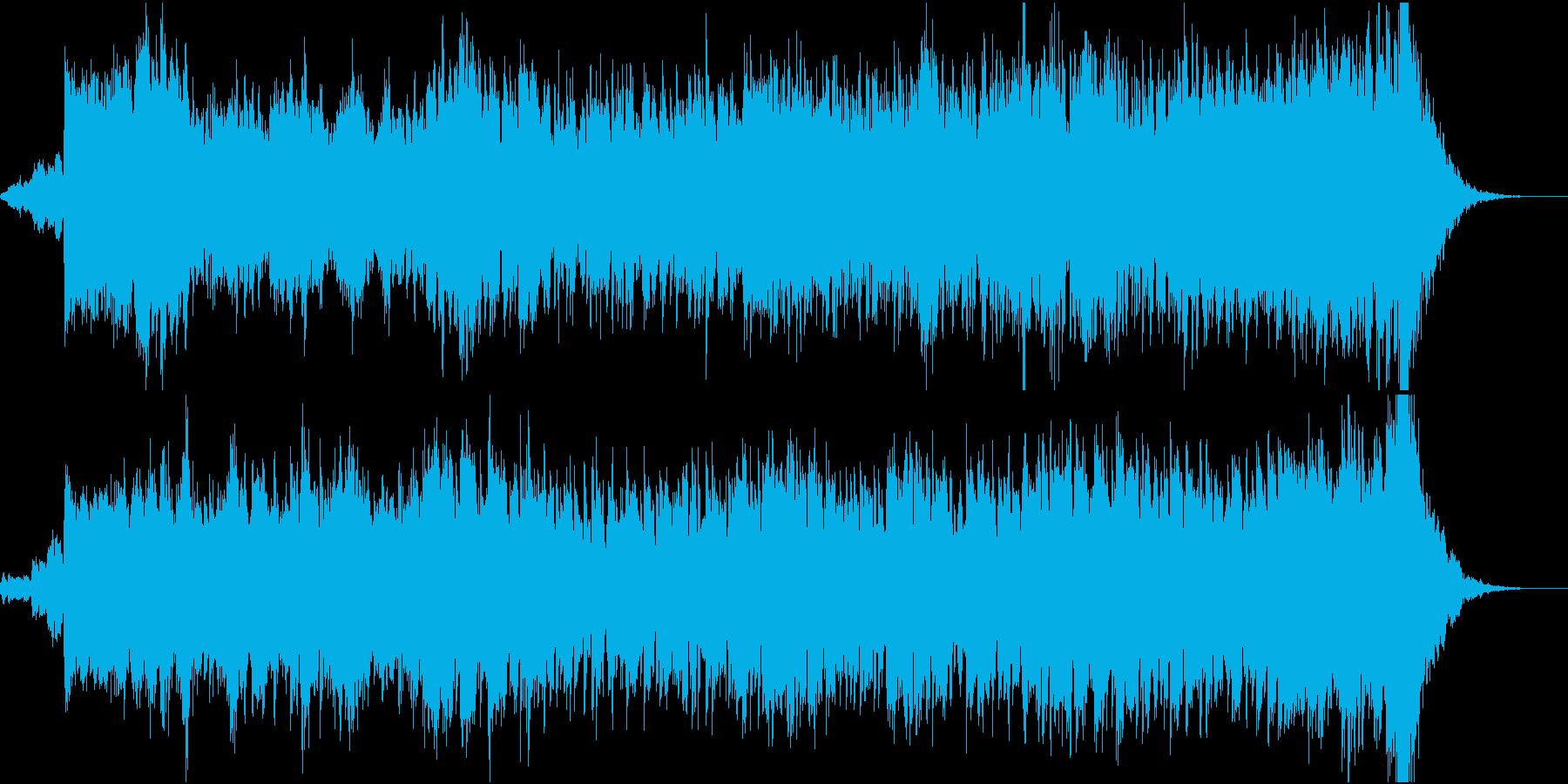 ホラーゲーム、シーン向けドローンBGMの再生済みの波形