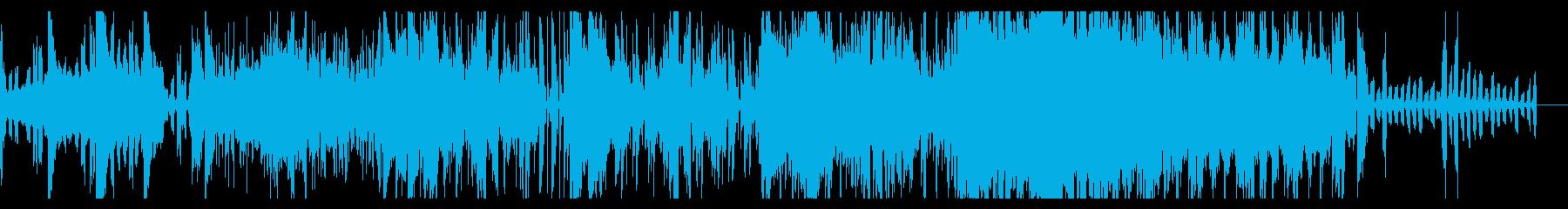 デジタルノイジーなエレクトロニカの再生済みの波形
