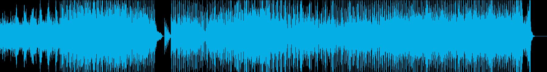 スリルを愉しむ、緊張感ある映像向きの曲の再生済みの波形