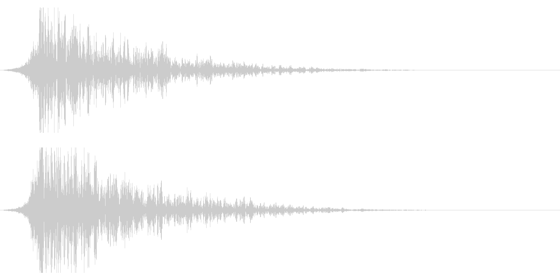 シュードーン-24-2(インパクト音)の未再生の波形