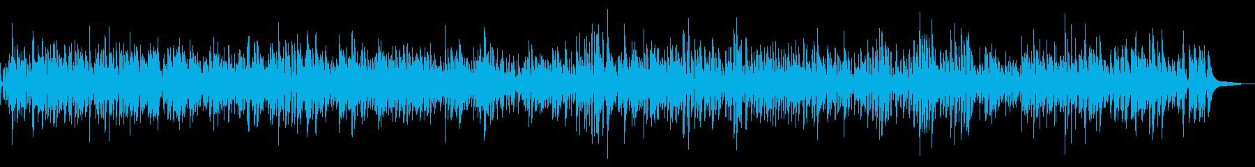 クールおしゃれカフェ系疾走感ピアノジャズの再生済みの波形
