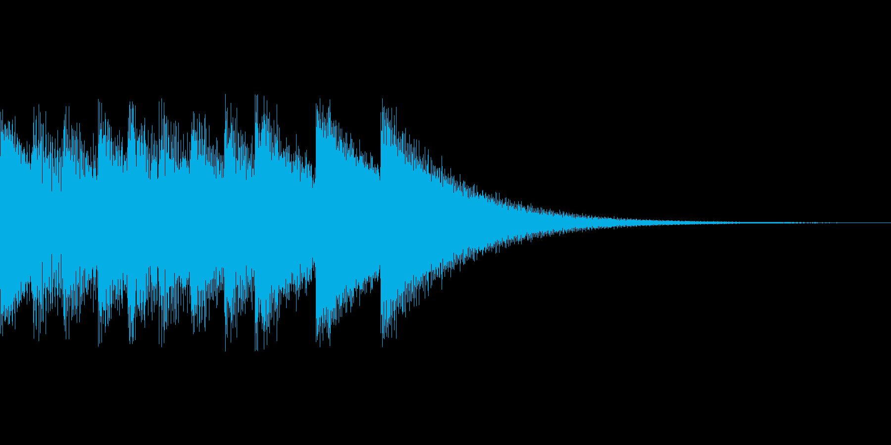 のど自慢合格風のジングルの再生済みの波形