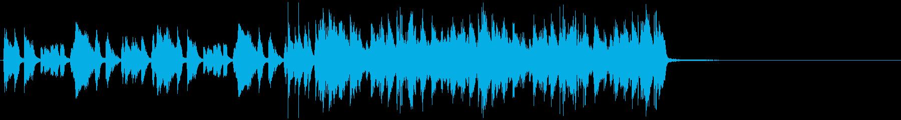15秒CM向けアコギリフ コミカルな感じの再生済みの波形