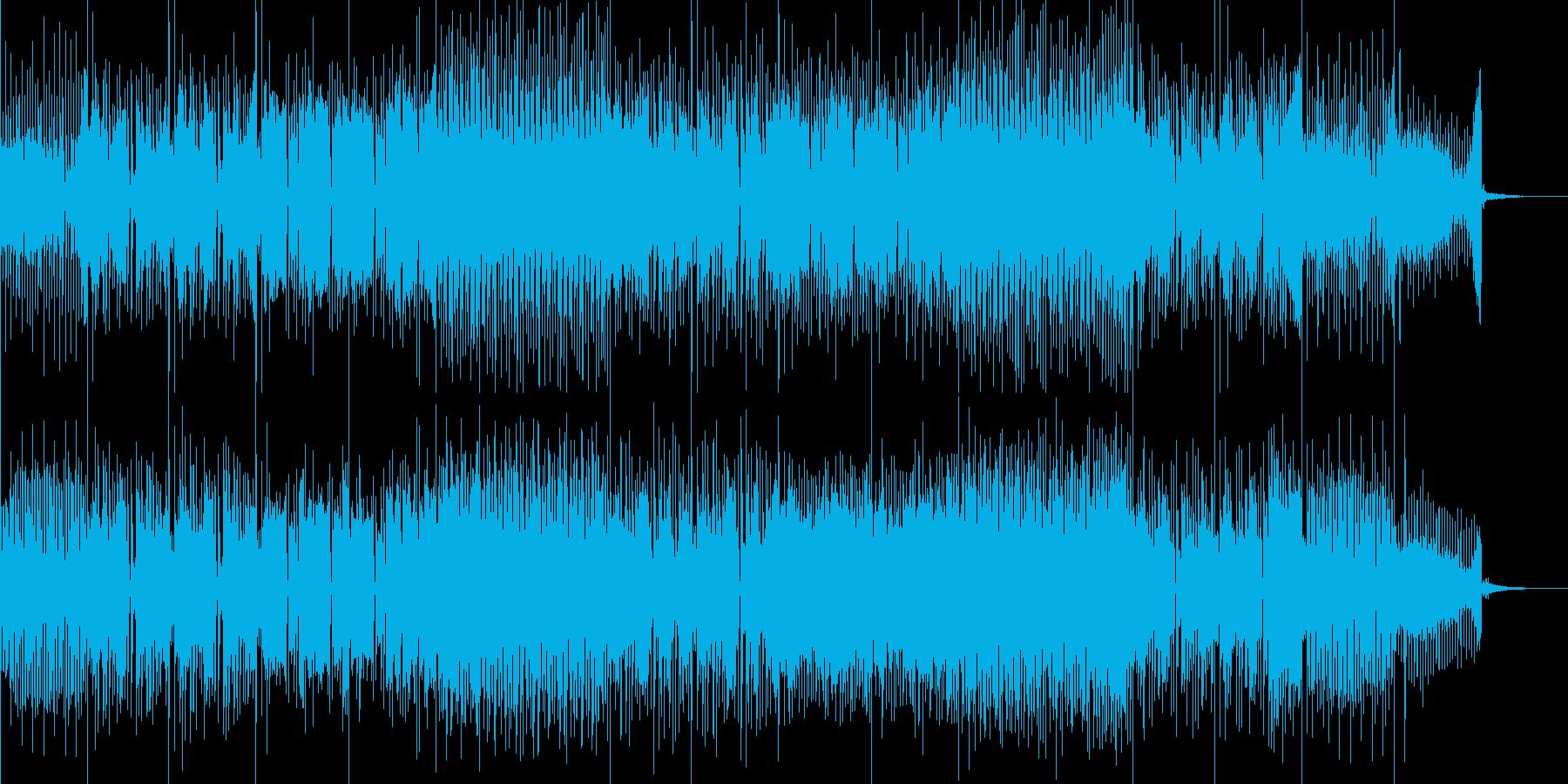 激しいリズムに切ないメロディが融合した曲の再生済みの波形
