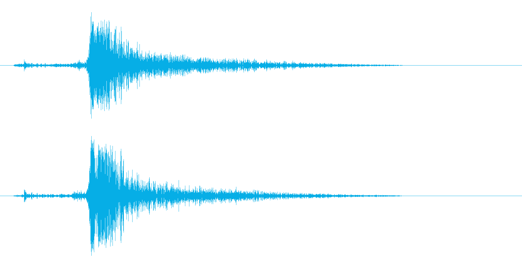 カチャッ(シャープな効果音)の再生済みの波形