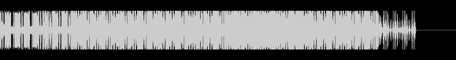 シンプルでシリアスめのデジタルBGMの未再生の波形