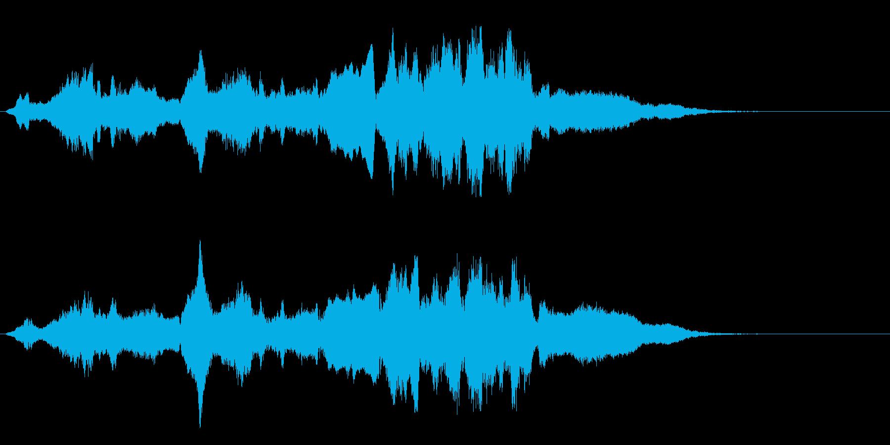 あの日の夏のジングル。バイオリン&チェロの再生済みの波形