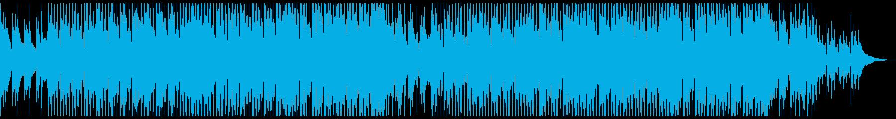 ポップでポジティブなアコギとピアノの再生済みの波形