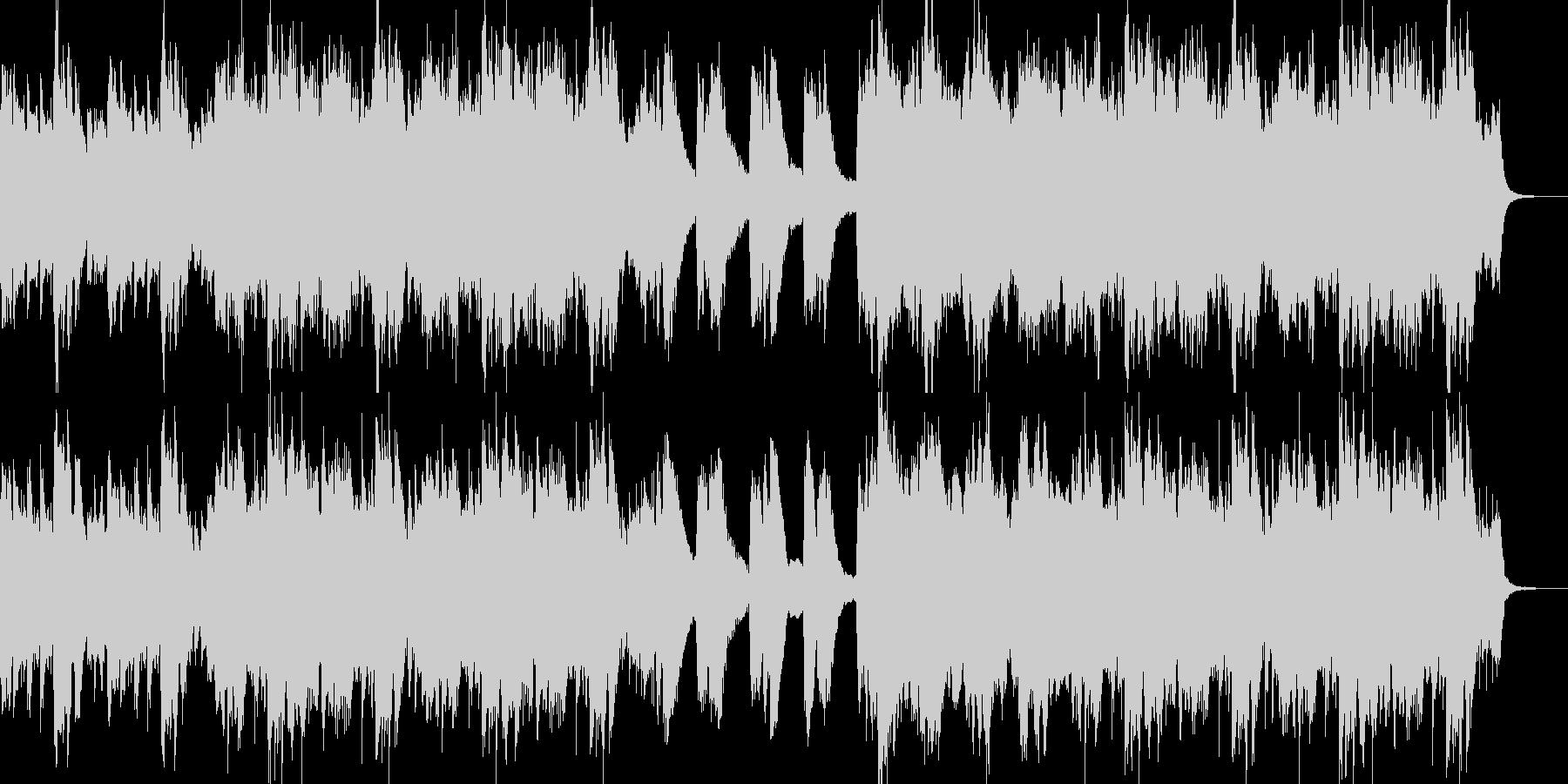 ピアノメインの叙情感のある曲の未再生の波形