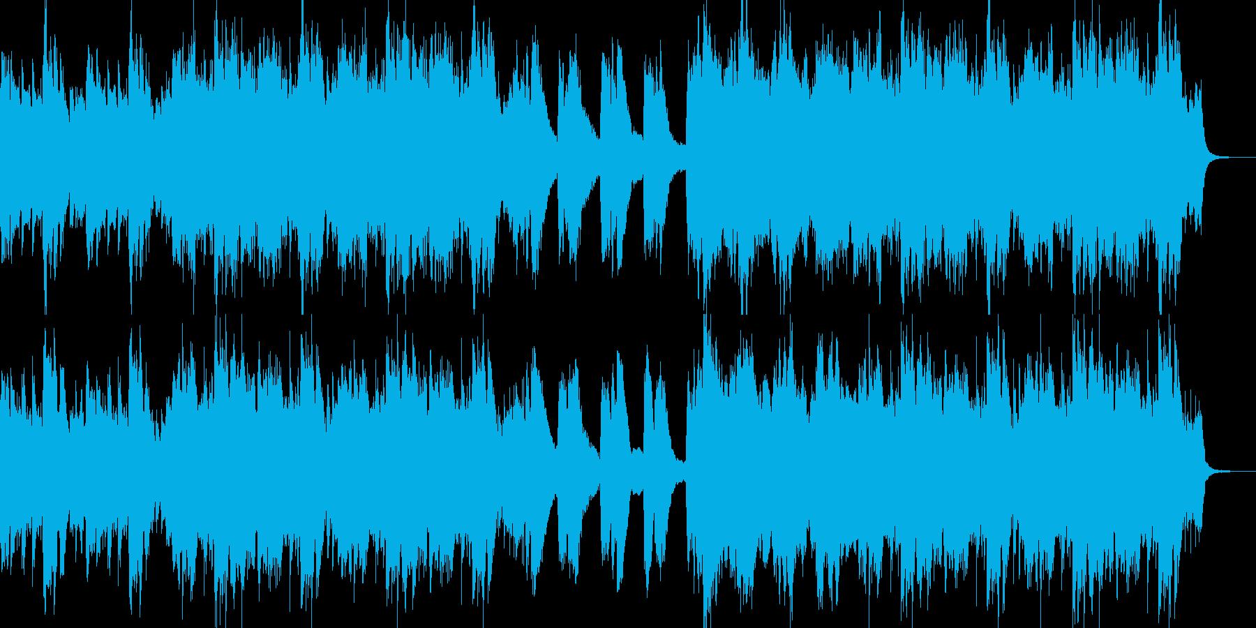 ピアノメインの叙情感のある曲の再生済みの波形