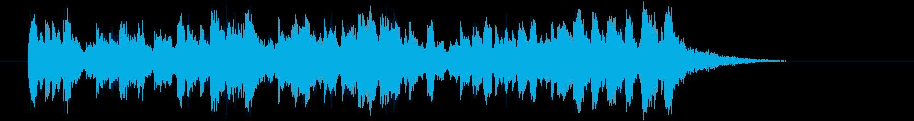 シンセサイザーの爽快感のあるジングルの再生済みの波形