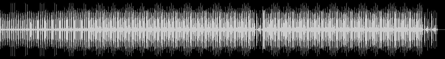 重低音のベースが印象的なテクノの未再生の波形