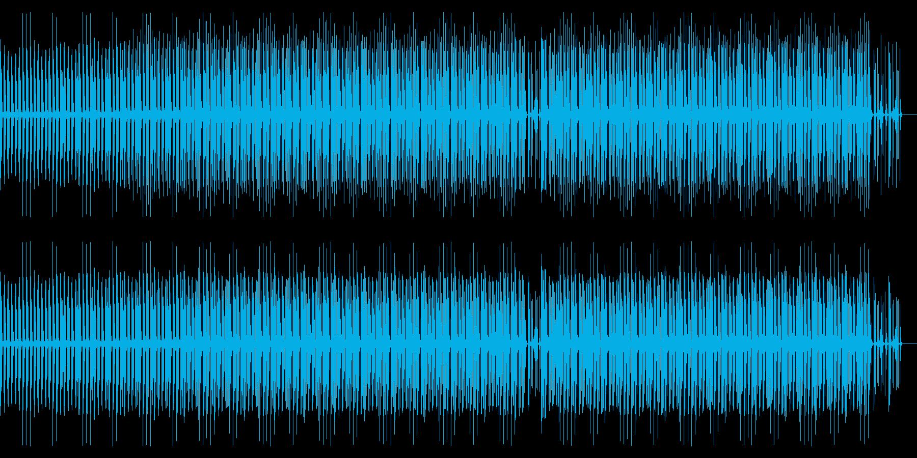 重低音のベースが印象的なテクノの再生済みの波形