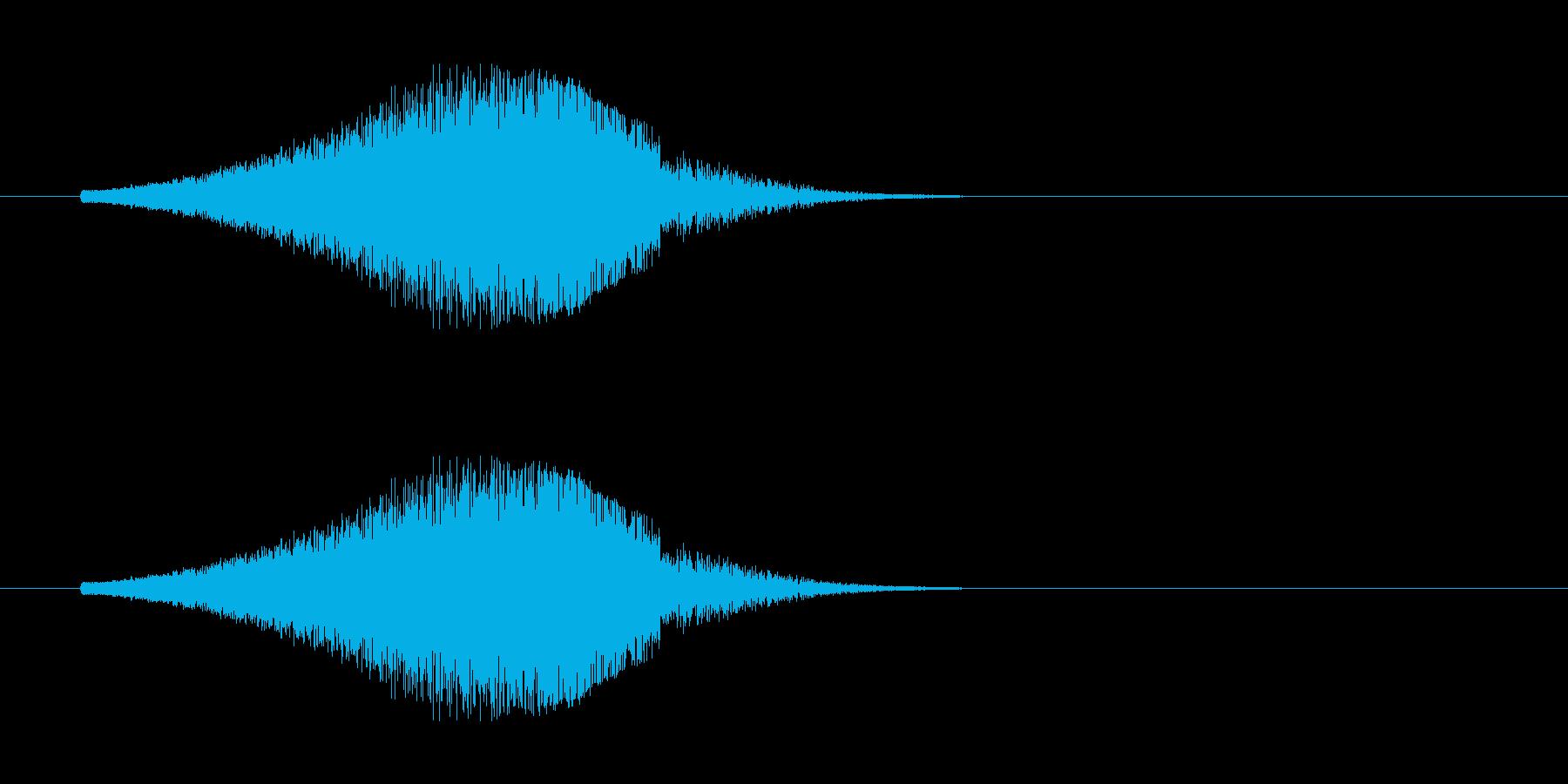 レーザー音-156-3の再生済みの波形